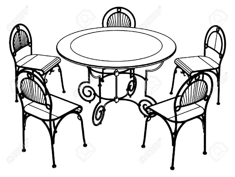 Chair and lamp clipart black and white picture royalty free Table Clipart Black And White | Free download best Table Clipart ... picture royalty free