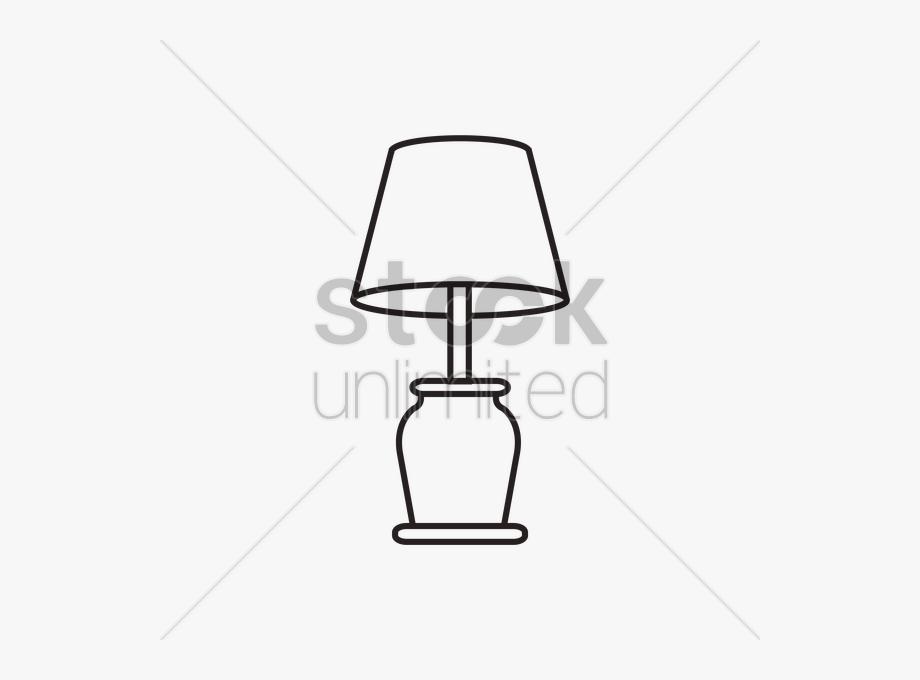 Chair and lamp clipart black and white svg royalty free library Drawing Lamp Kid - Table Lamp Black & White Clipart, Cliparts ... svg royalty free library