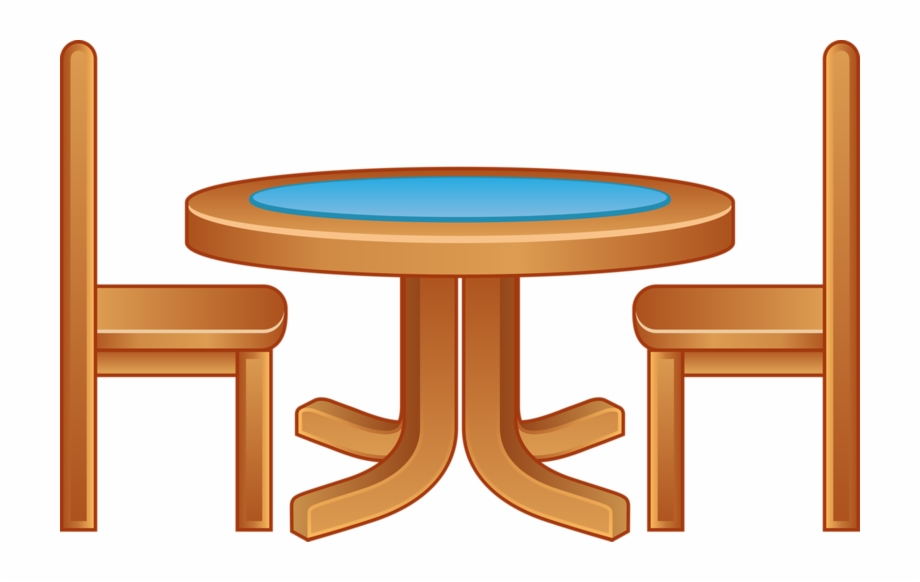 Chair at table clipart picture transparent library Furniture Cartoon Wooden Tables And Chairs - Table And Chair Cartoon ... picture transparent library