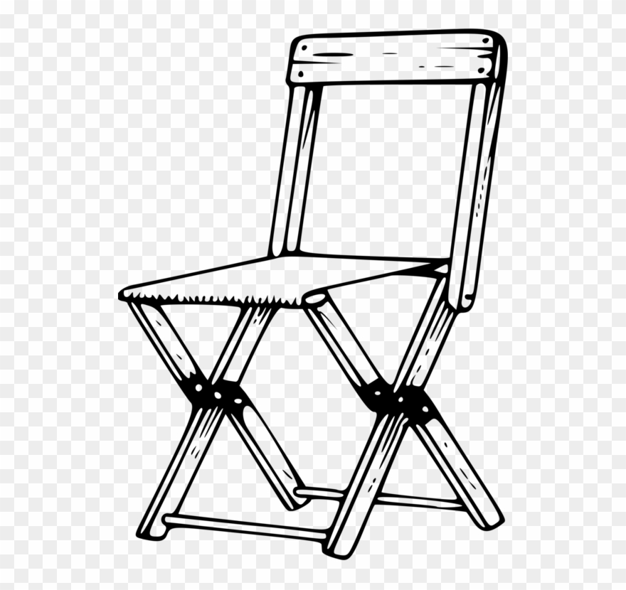 Chair and table in clipart black and white image transparent stock Table Folding Chair Camping Furniture - Chair Clipart Black And ... image transparent stock