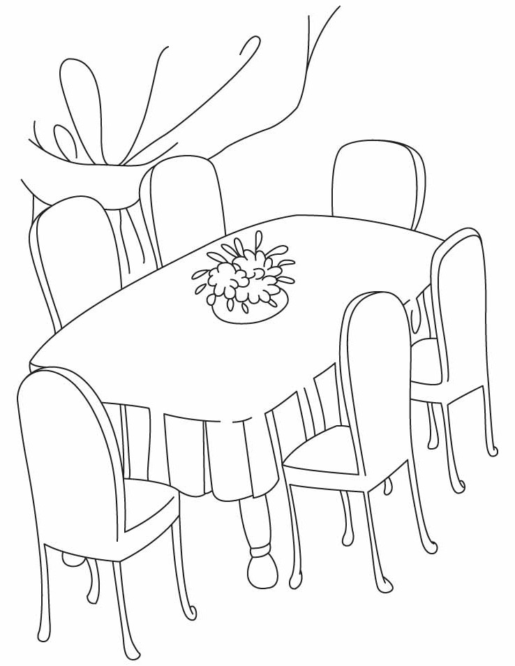 Chair and table in clipart black and white graphic royalty free library Free Dining Table Cliparts, Download Free Clip Art, Free Clip Art on ... graphic royalty free library