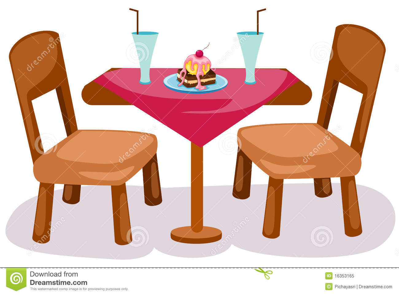 Chair at table clipart jpg library library Table And Chair Clipart & Free Clip Art Images #34883 - Clipartimage.com jpg library library