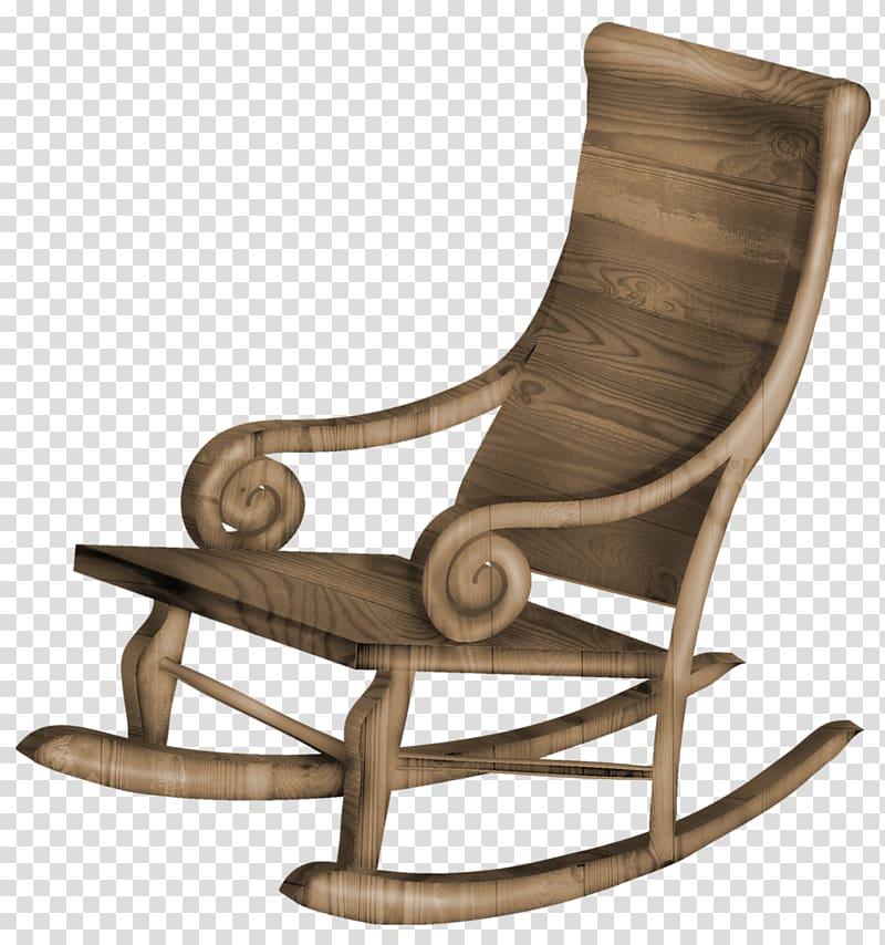 Chair clipart background clipart transparent library Brown wooden rocking chair on blue background, Rocking chair Table ... clipart transparent library