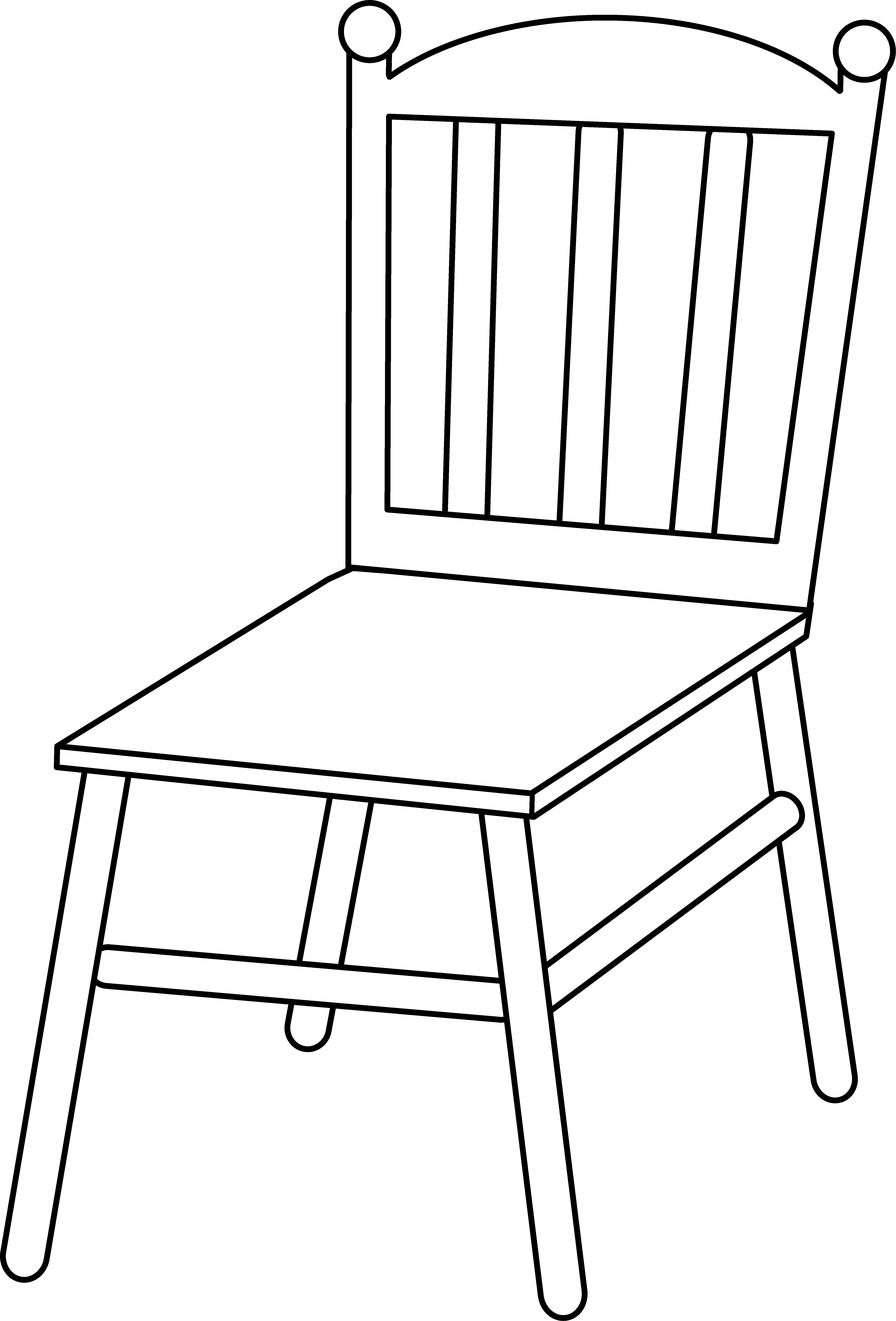 HD Chair Line Art - Transparent Background Chair Clipart Black And ... clipart freeuse library