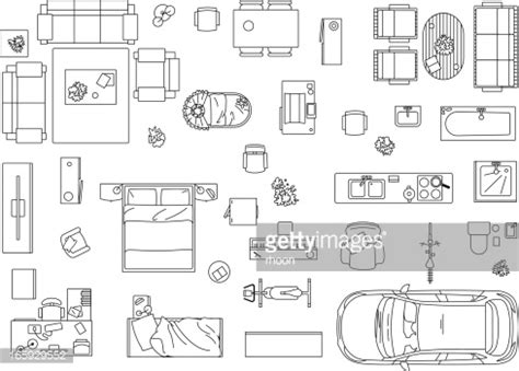 Office Furniture Top View Clip Art - Hawthorneatconcord image freeuse stock