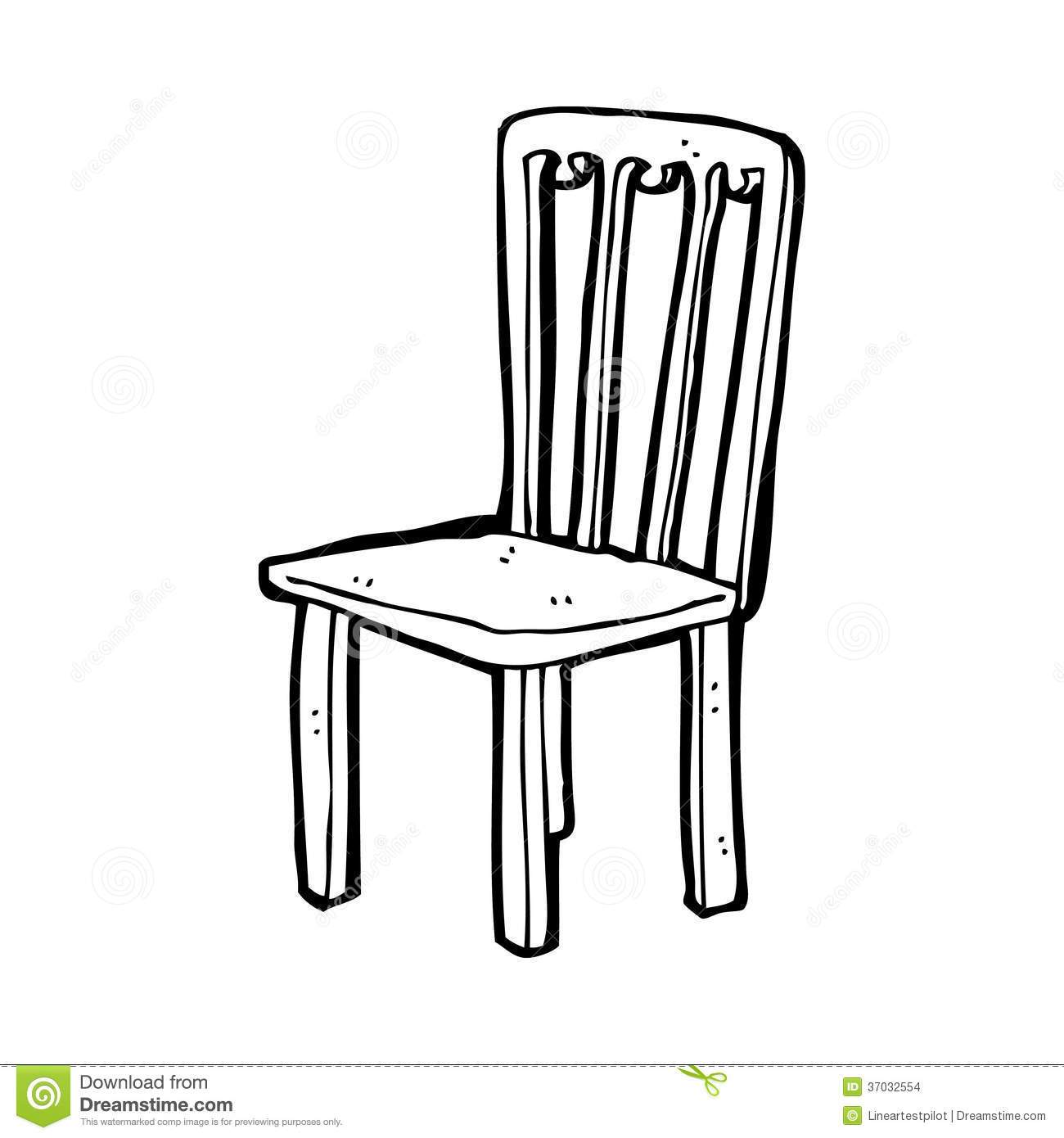 Chair white clipart picture stock Wooden chair clipart black and white 5 » Clipart Portal picture stock