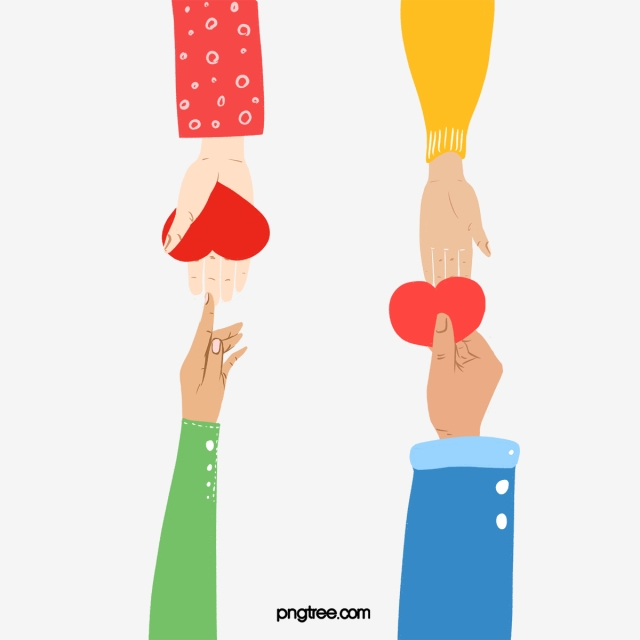 Colorful Hand Drawn Charity Event Offering Love Illustration, Heart ... transparent download