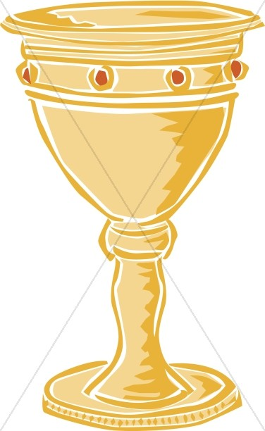 Gold Jewelled Chalice | Communion Clipart clip art library library