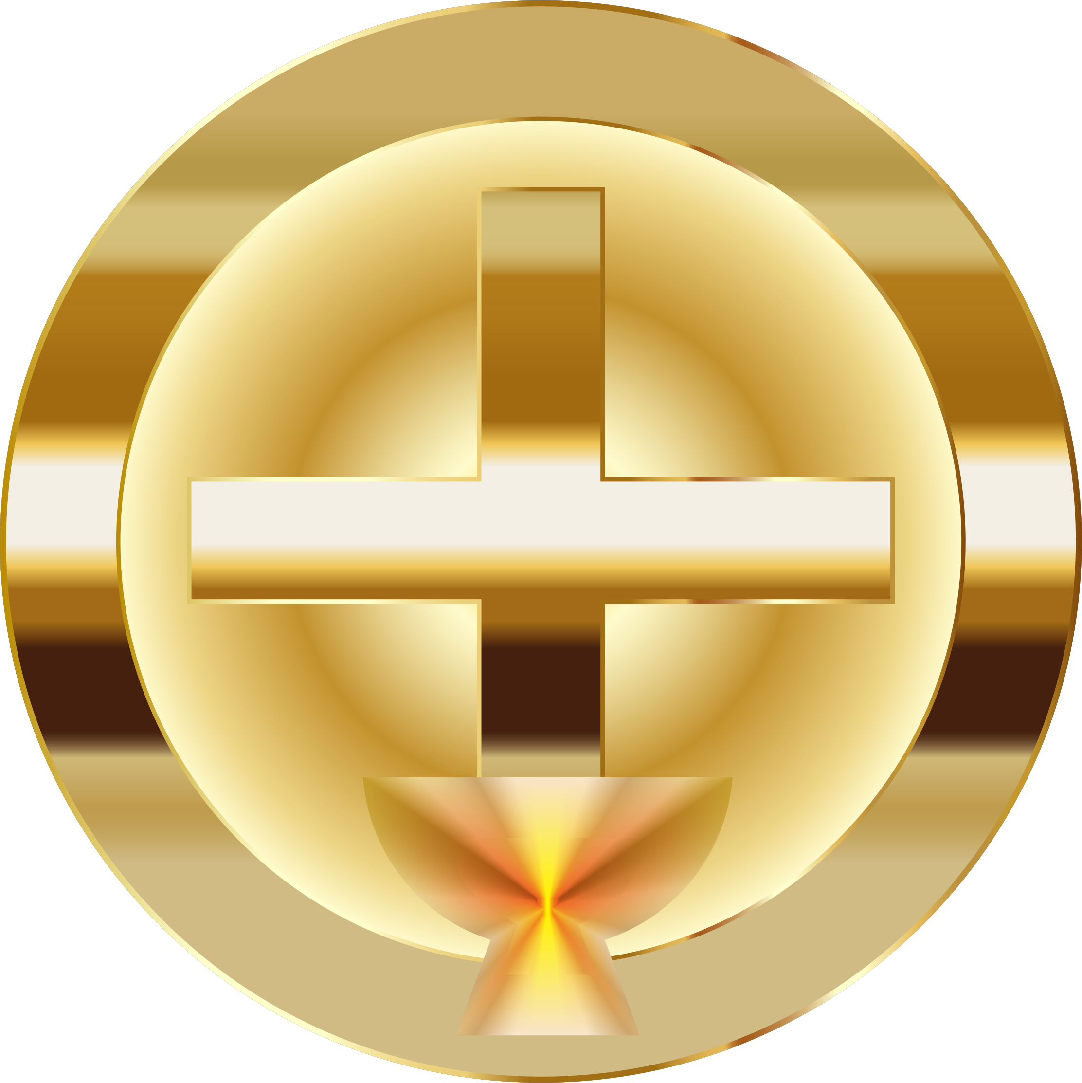 Cross church of god clipart picture freeuse Clipart - Gold Cross And Chalice picture freeuse