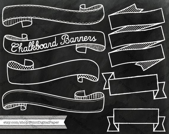 Download Chalkboard texture and banners clip art Chalk drawn vector ... vector royalty free library
