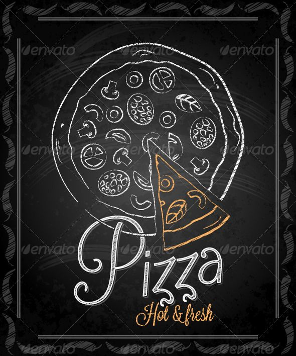 Chalk pasta clipart vector black and white pizza drawn on chalkboard - Google Search | chalk boards | Pizza ... vector black and white