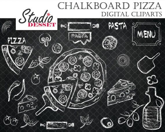 Pizza clipart chalk