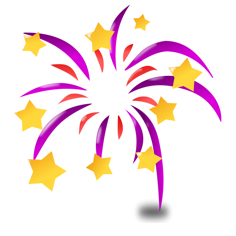 Clipart star filigree jpg royalty free Colorful Stars | Purple an red burst of fireworks with yellow stars ... jpg royalty free