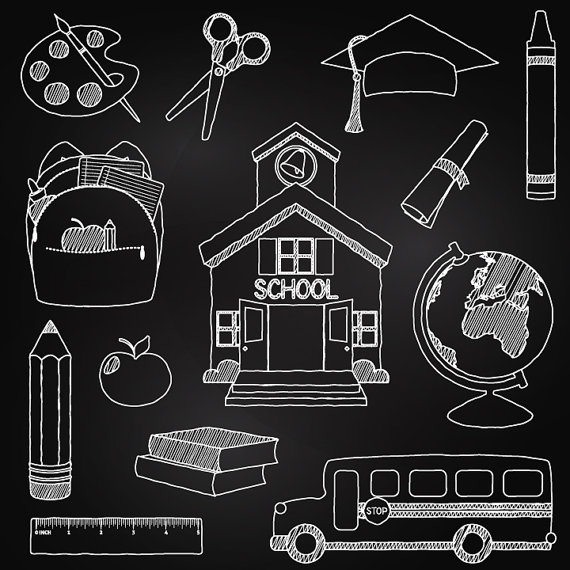 Chalkboard School Clipart Clip Art, Chalk Board Teacher Clipart Clip ... graphic royalty free library