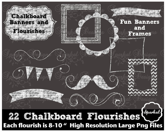 Chalkboard art clipart clip free stock Chalkboard Frame Clipart - Clipart Kid clip free stock