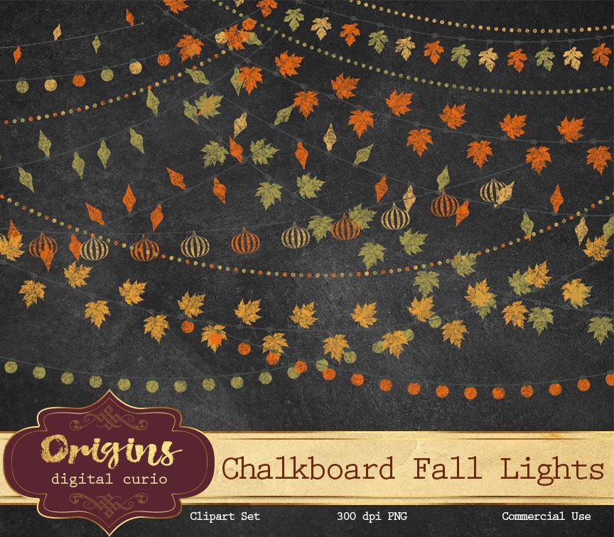 Chalkboard art clipart autumn image free download Autumn chalkboard | Etsy image free download