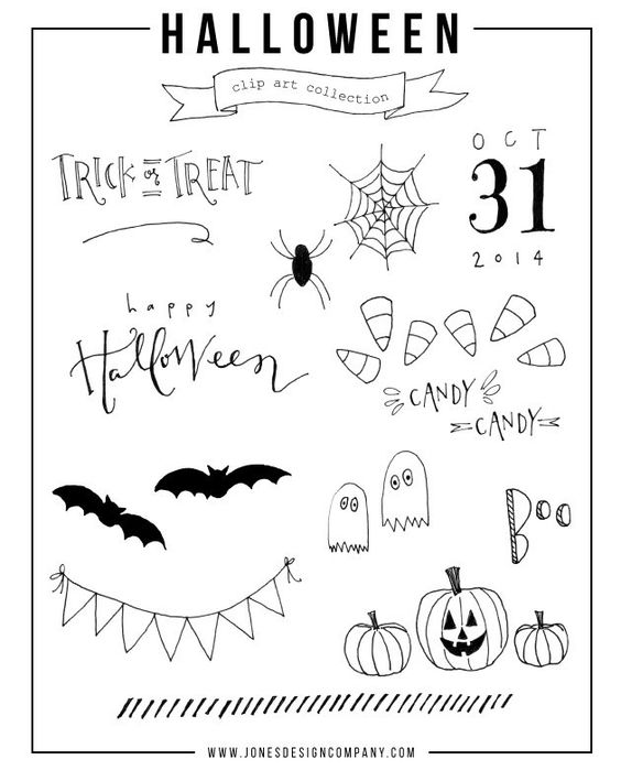 Chalkboard art clipart facebook clipart stock free hand-drawn halloween clip art | Facebook, Clip art and Pictures clipart stock