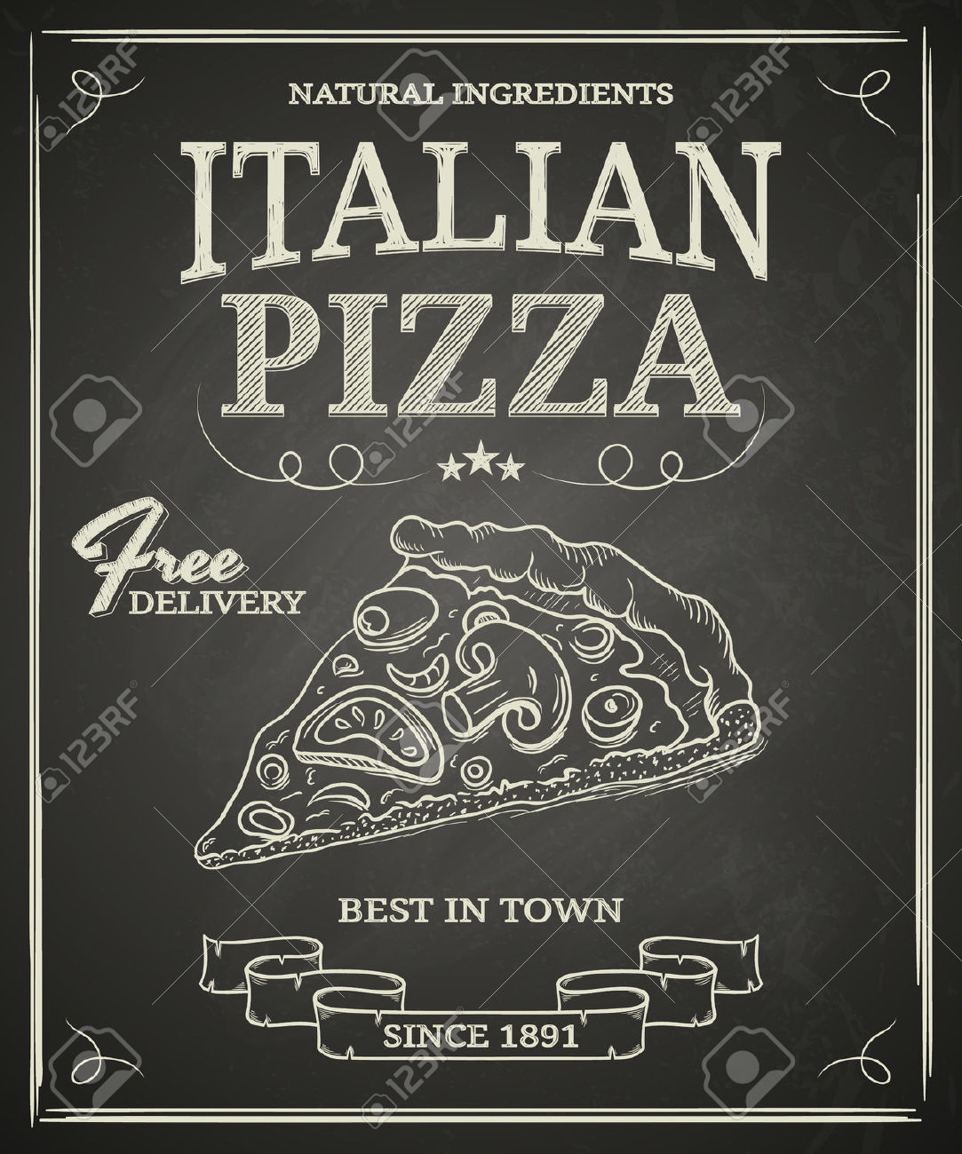Chalkboard art clipart italian. Clipartfest food pizza
