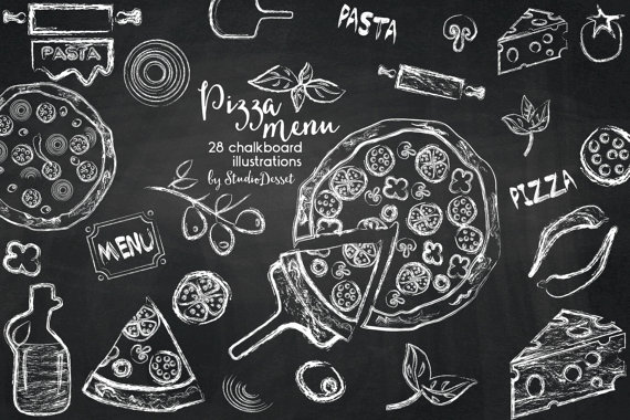 Chalkboard art clipart italian png royalty free stock Chalkboard Pizza Clipart Chalk Pizza Cheese Clip Art Pasta png royalty free stock