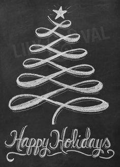 Chalkboard art clipart tree transparent 10+ images about Chalkboard Art ❤ on Pinterest | Christmas ... transparent