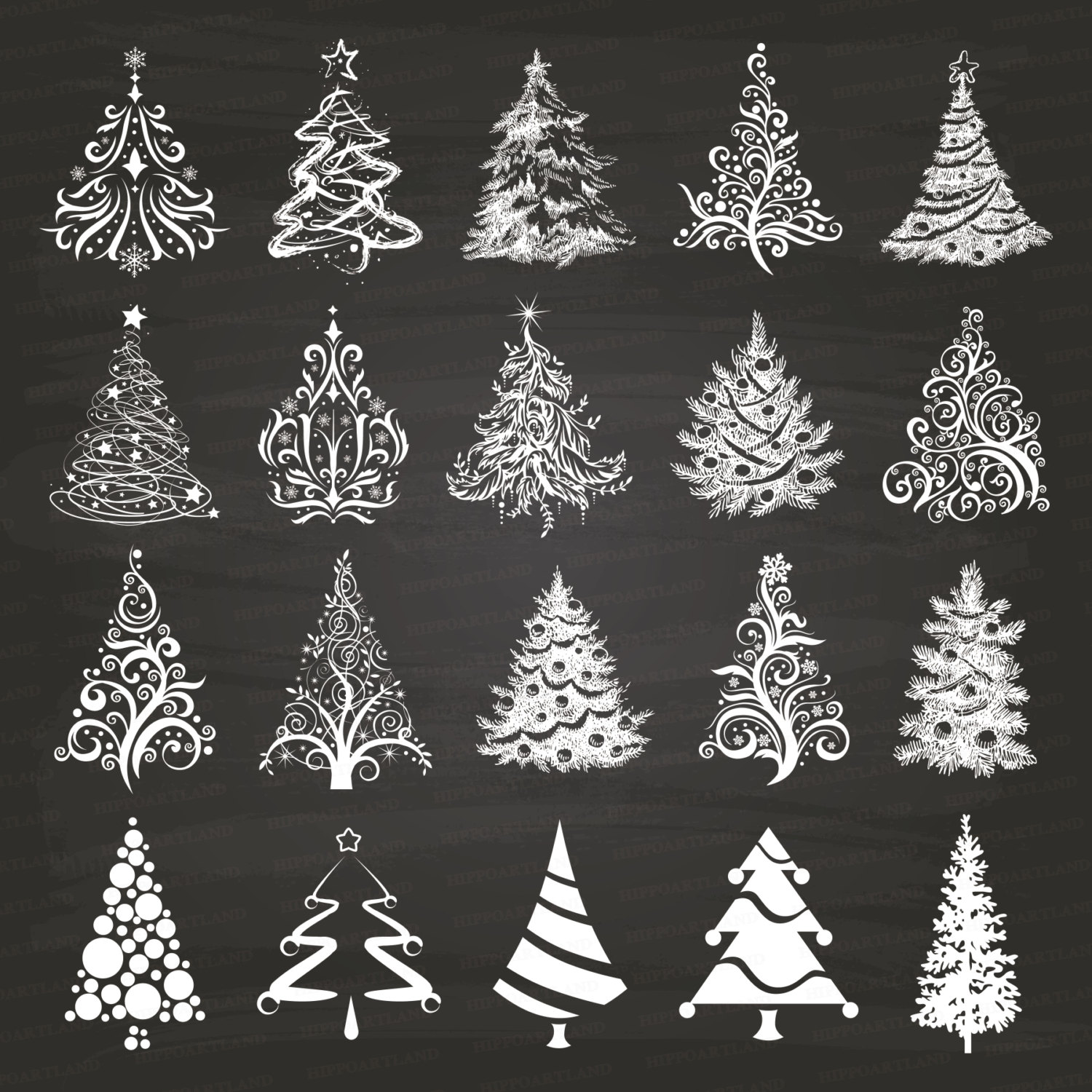 Chalkboard art clipart tree png freeuse Chalkboard christmas tree clipart black and white - ClipartFox png freeuse