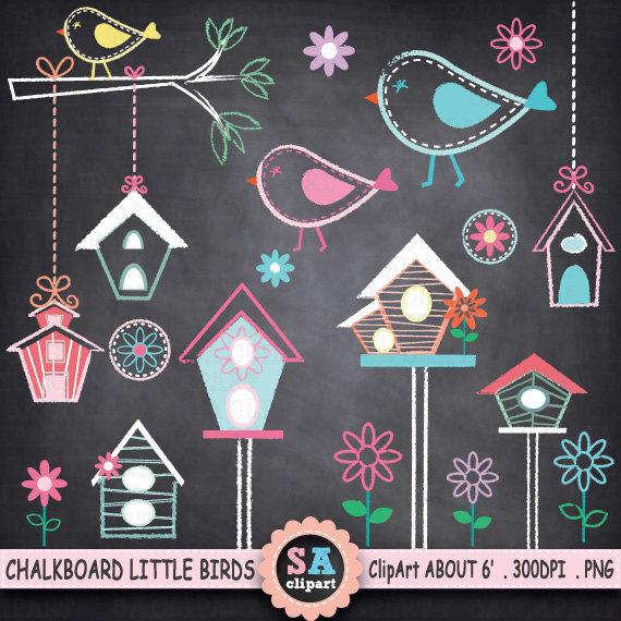 Chalkboard art clipart tree graphic library stock Chalkboard Little Houses Clip Art