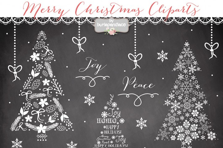 Chalkboard art clipart tree graphic free burlapandlace | 81 Design Products | TheHungryJPEG.com graphic free