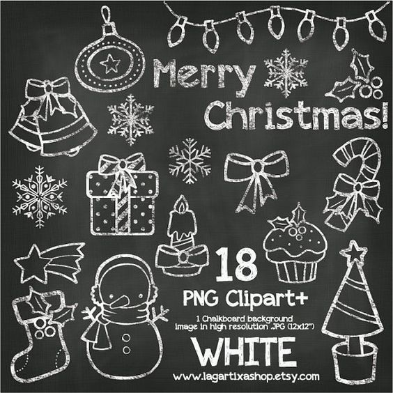 Chalkboard art clipart tree vector library Christmas Chalkboard Color Chalk Clipart Snowman Boot Star ... vector library