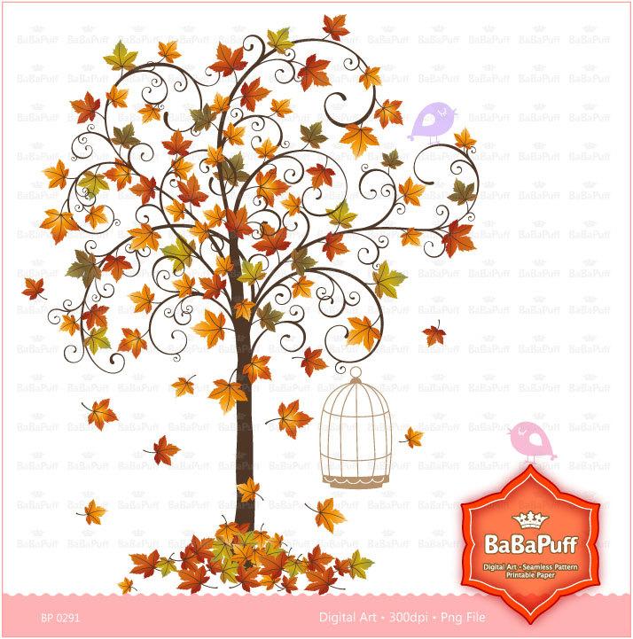 Chalkboard art clipart tree autumn clip royalty free Birdcage clip art | Etsy clip royalty free