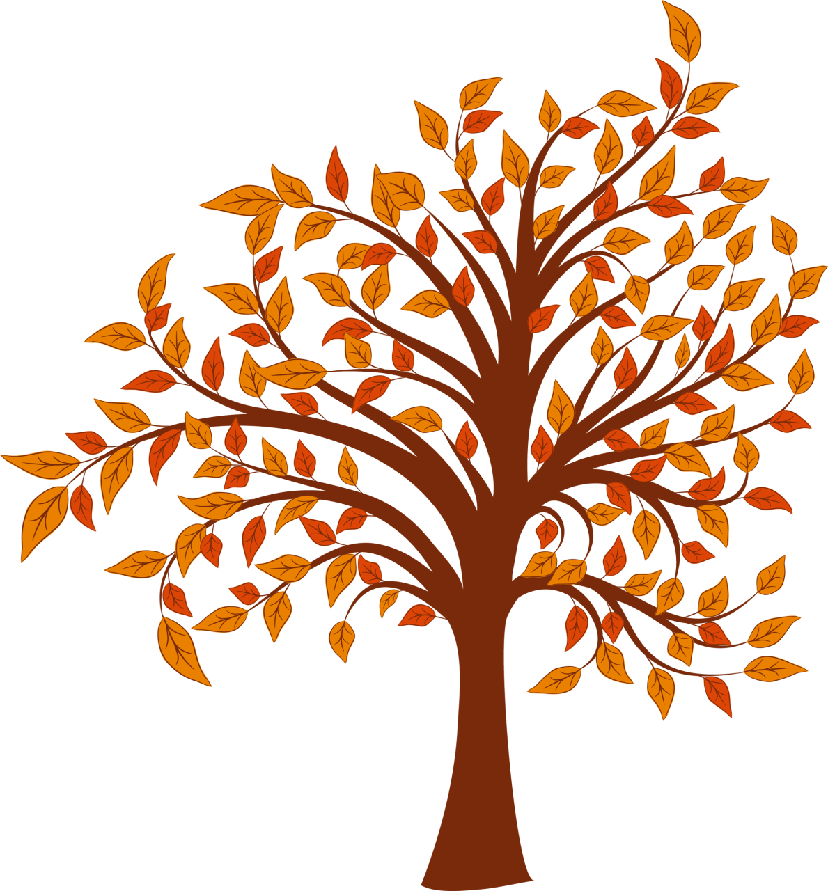 Chalkboard art clipart tree autumn graphic download Autumn tree clipart free - ClipartFest graphic download