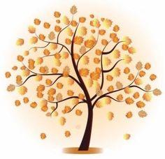 Chalkboard art clipart tree autumn