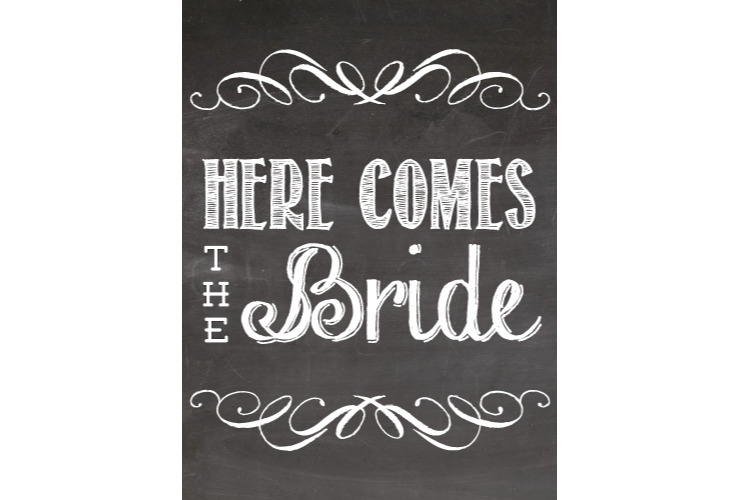 Chalkboard book clipart clip art transparent library Bridal Chalkboard Style Sign – SignitUp.com clip art transparent library