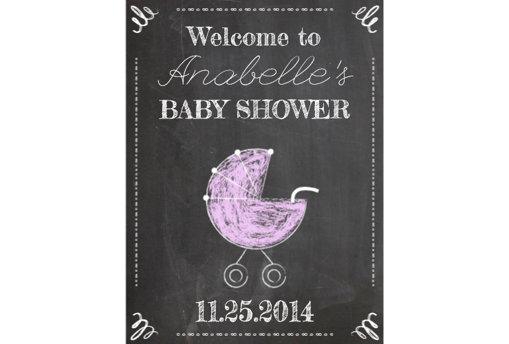 Chalkboard book clipart jpg library Baby Shower Chalkboard Sign – SignitUp.com jpg library