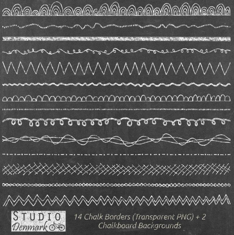 Chalkboard borders clip art vector Chalk Borders Clipart 14 Chalkboard Clipart Digital Borders vector