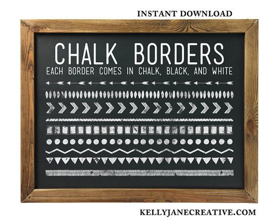 Chalkboard borders clip art clip art free library Vintage Chalkboard Clipart - Clipart Kid clip art free library