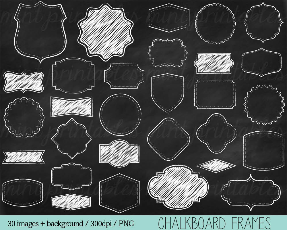 Chalkboard borders clip art jpg library stock Chalkboard Frames Clipart Chalk Clipart Clip Art Borders jpg library stock