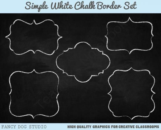 Chalkboard borders clip art picture freeuse stock Chalk Clipart Border with Chalkboard Background Images from Fancy ... picture freeuse stock