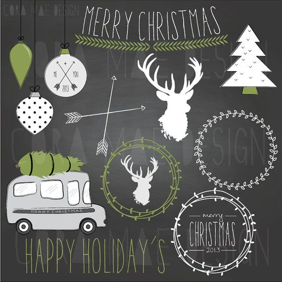 Chalkboard christmas clipart clip art free stock 10 Best images about Graphic Design Elements on Pinterest ... clip art free stock