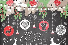Chalkboard christmas clipart graphic free Chalkboard Christmas Cliparts ~ Illustrations on Creative Market graphic free