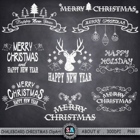 Chalkboard christmas clipart png download Christmas clipart, Chalkboards and Christmas on Pinterest png download
