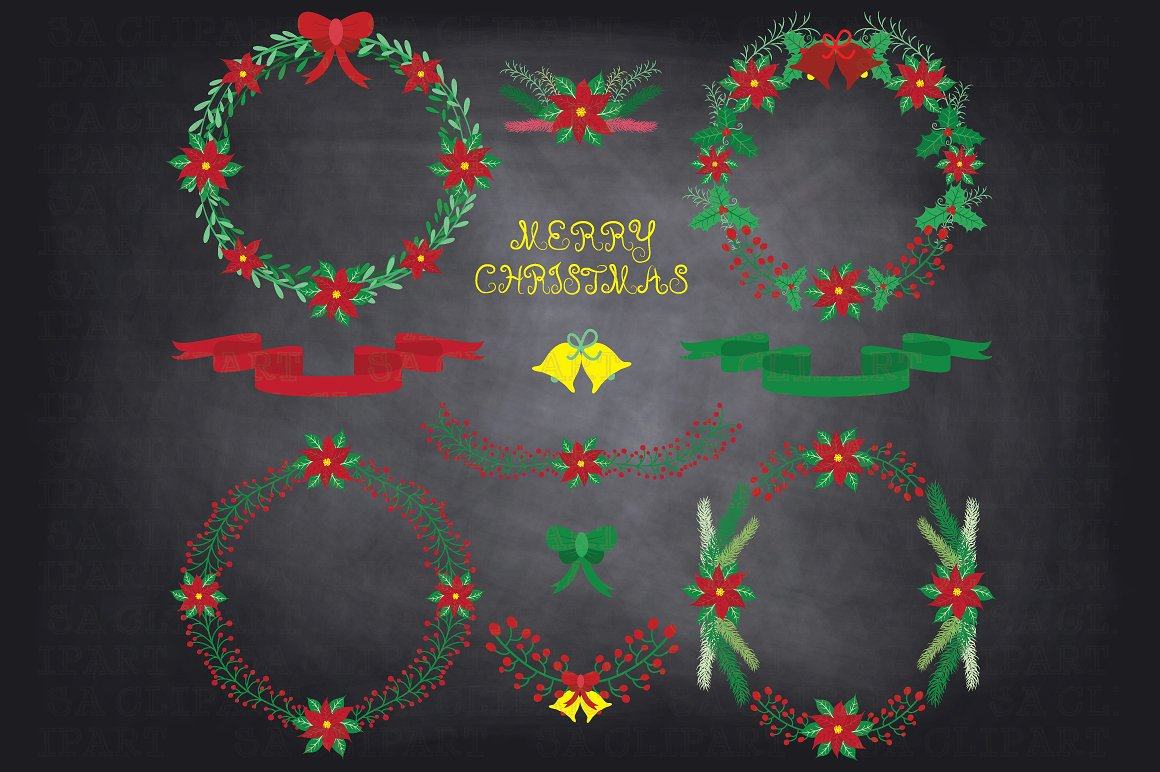 Chalkboard christmas clipart royalty free Chalkboard christmas clipart Photos, Graphics, Fonts, Themes ... royalty free