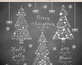 Chalkboard christmas clipart clip freeuse download Clipart Christmas Tree Chalkboard Christmas Clipart Winter Clipart ... clip freeuse download