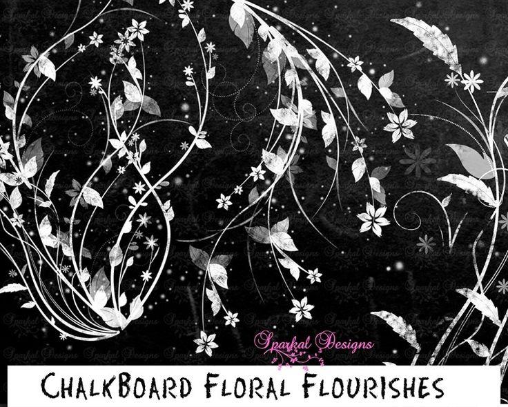 Chalkboard clip art download clipart free stock Chalkboard Flourishes FLORAL Chalkboard Clip Art Chalkboard ... clipart free stock