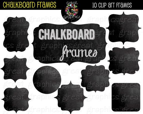 Chalkboard clip art download svg transparent library Chalkboard Frame Digital Chalkboard Frames Chalkboard Clipart ... svg transparent library