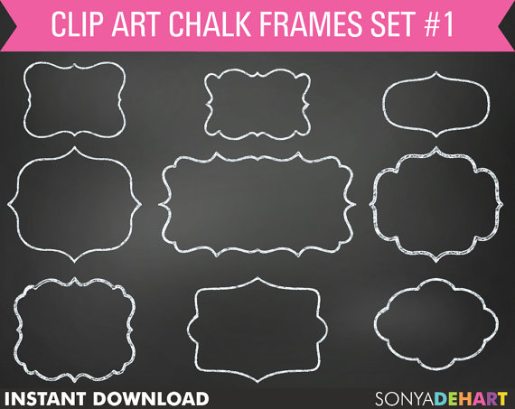 Chalkboard clip art download banner library Chalkboard Frames Free Download – Free wallpaper download banner library