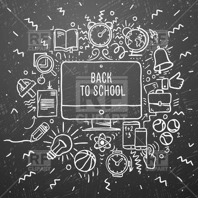Chalkboard clip art download royalty free library Chalkboard Clip Art for School – Clipart Free Download royalty free library