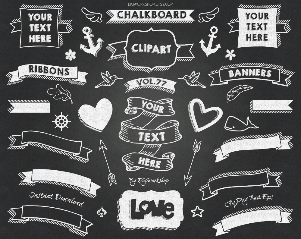 Chalkboard clipart download vector library stock Free Chalkboard Banner Cliparts, Download Free Clip Art, Free Clip ... vector library stock