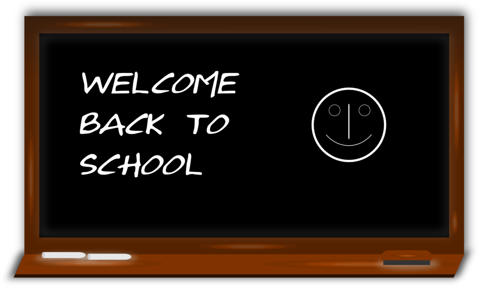 Chalkboard clipart school jpg black and white Public Domain Clip Art Image | Illustration of a chalkboard | ID ... jpg black and white