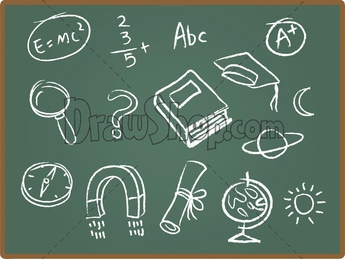 Chalkboard drawing clipart school clip art black and white stock DrawShop | Royalty Free Cartoon Vector Stock Illustrations & Clip Art clip art black and white stock