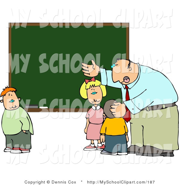 Chalkboard elementary clipart clip Clip Art of a Male Elementary School Teacher Talking and Explaining ... clip